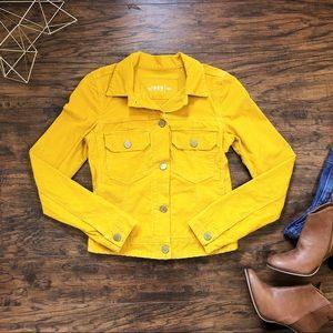 GAP • mustard yellow corduroy jacket